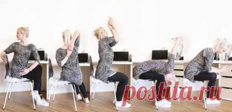 Упражнения на растяжку в офисе