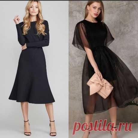 Всегда актуальное черное платье — Красота и мода