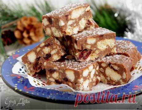 Шоколадный фадж с клюквой и фундуком | Официальный сайт кулинарных рецептов Юлии Высоцкой
