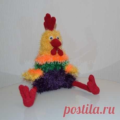 Купить игрушку ручной работы Огненный петух от интернет магазина «Вокруг цветов». Экспресс доставка.
