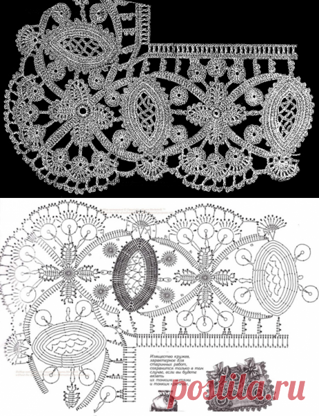 Graceful border a hook in style of the Irish lace.