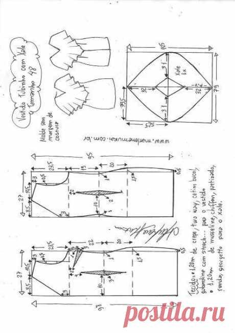 Выкройка праздничного платья (Шитье и крой) – Журнал Вдохновение Рукодельницы