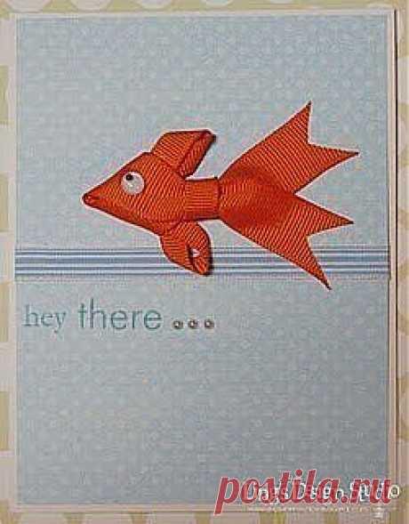 Рыбка из ленты за 5 минут!