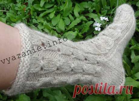 Длинные ажурные носки. | Vyazanie.info | Яндекс Дзен