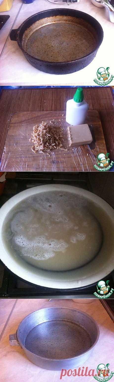 """Как очистить """"бабушкины"""" чугунные кастрюли/сковордки.."""