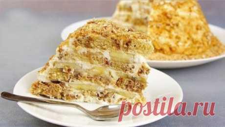 Торт без выпечки, всего из 3-х ингредиентов! — ТУТ ВКУСНЕЕ!