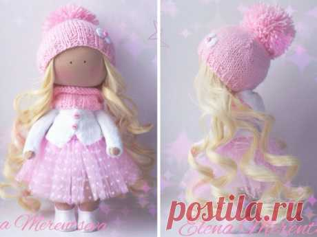 Fabric doll Tilda doll Handmade doll Textile by AnnKirillartPlace