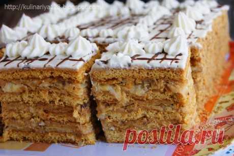 Медово-слоеный торт.