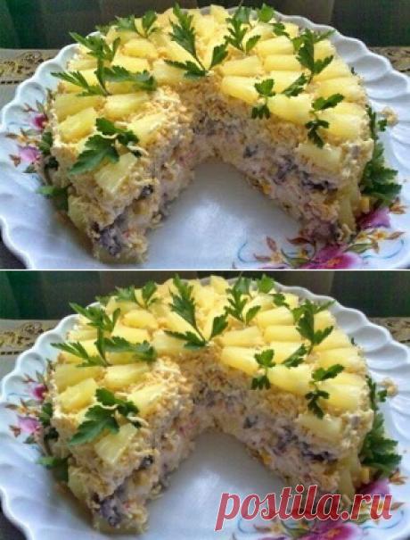 Лучшие кулинарные рецепты: Торт-салат «Чудо-слойка»