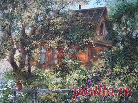 Деревенские пейзажи Галины Аксёновой