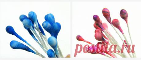 Тычинки для цветов своими руками из пата, микробисера, теста Семь мастер-классов на тычинки для любых цветов: канзаши и не только. Тычинки из крахмала и клея ПВА, микробисера, соленого теста, пенопластовых шариков.