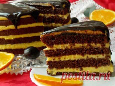 Шоколадный торт с апельсиновым курдом - Готовьте с Любовью