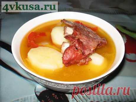 Копчёные свиные рёбрышки с овощами. Фоторецепт. | 4vkusa.ru