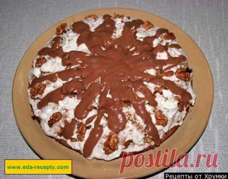 Кучерявый Торт Пинчер с грецкими орехами и сметанным кремом рецепт с фото пошагово - 1000.menu