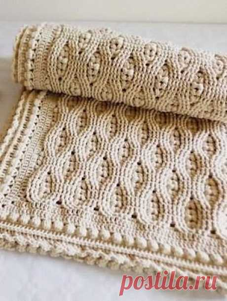 Плотный узор для пледа/одеяла из категории Интересные идеи – Вязаные идеи, идеи для вязания
