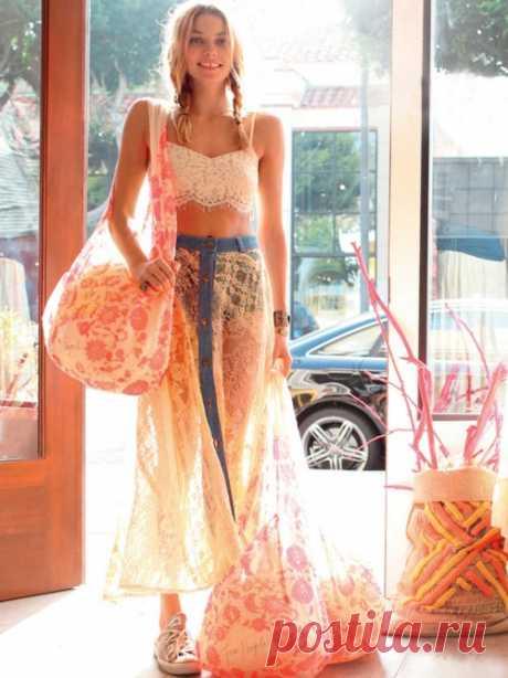 Вторая жизнь джинсовой юбки / Юбки и их переделки / Модный сайт о стильной переделке одежды и интерьера