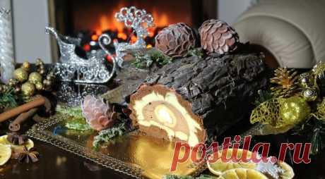 Придется потрудится! «Рождественское полено» пошаговый рецепт — Фактор Вкуса