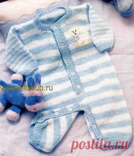 Комбинезон для малыша до 1 года - Комбинезоны для детей - Каталог файлов - Вязание для детей