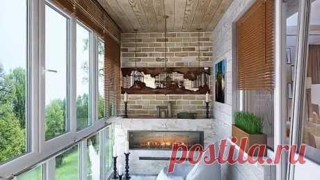 Уютный дизайн маленького балкона и дизайн лоджии