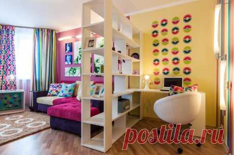 7 идей, как разместить в крохотной однушке спальню, гостиную, кухню и кабинет