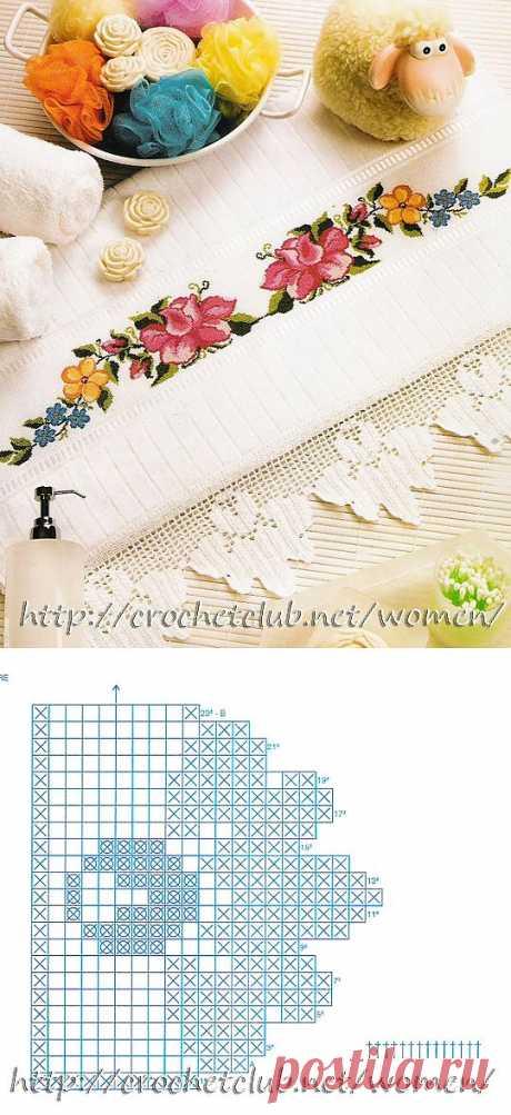 Салфетка с яркими цветами - Блог для женщин