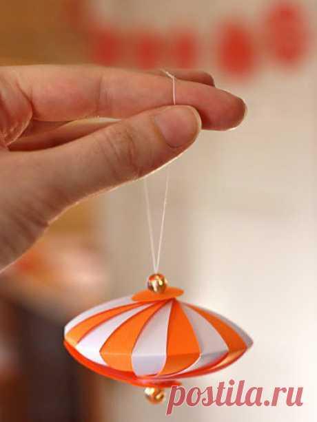 Бумажные шарики на елочку