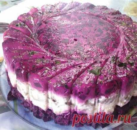 Селедка под шубой желированная, пошаговый рецепт с фото