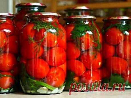 Закатываем помидоры без уксуса.