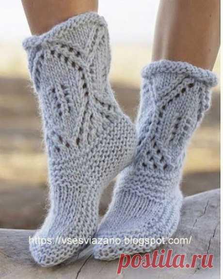 """ВСЕ СВЯЗАНО. ROSOMAHA.: Вязаные носки-сапожки """"Северный берег""""."""