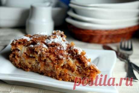Морковно-миндальный пирог с творожным кремом