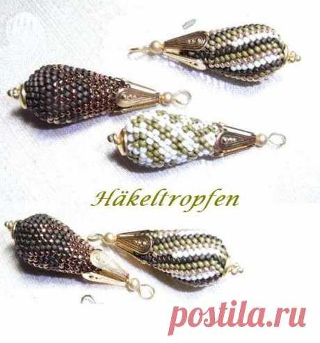 (1) bluepearls Perlen: Häkeltropfen | Beaded BEADS/ kulki