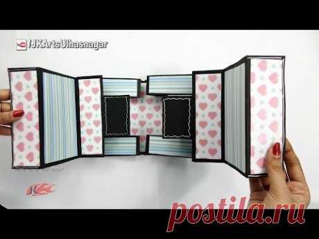 Double Tri-shutter Card Tutorial | Card for Scrapbook | JK Arts 1167