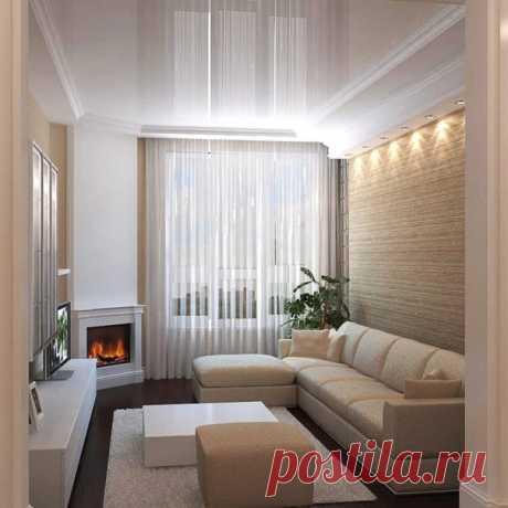 Гостиная комната с биокамином Уютно и тепло