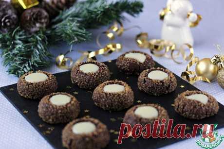 Шоколадно-мятное печенье Кулинарный рецепт