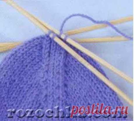 Носки с пяткой бумеранг | Учебный курс носки