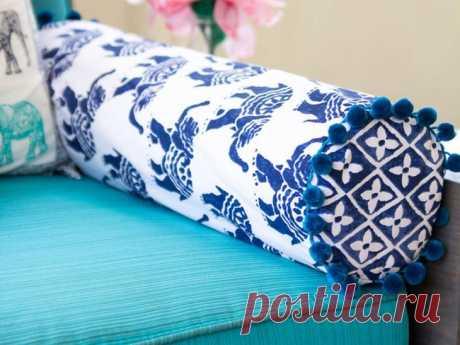 Подушка-валик — DIYIdeas