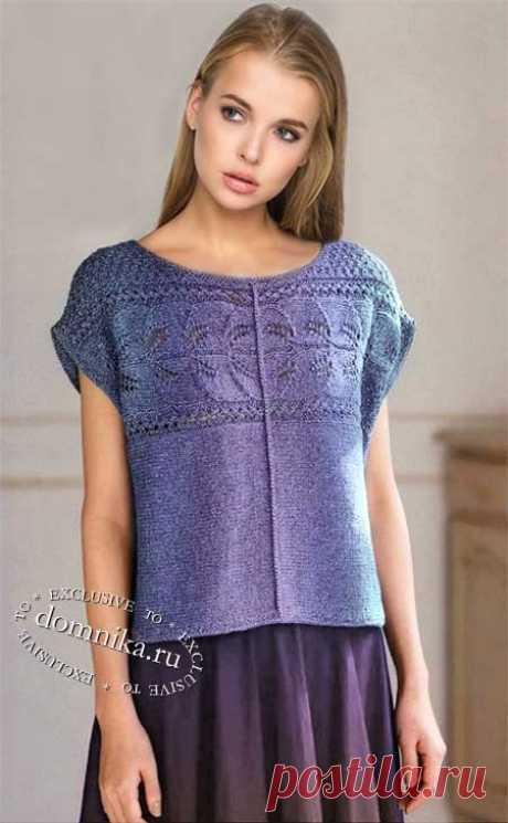 Широкая вязаная кофточка спицами - вязание для женщин
