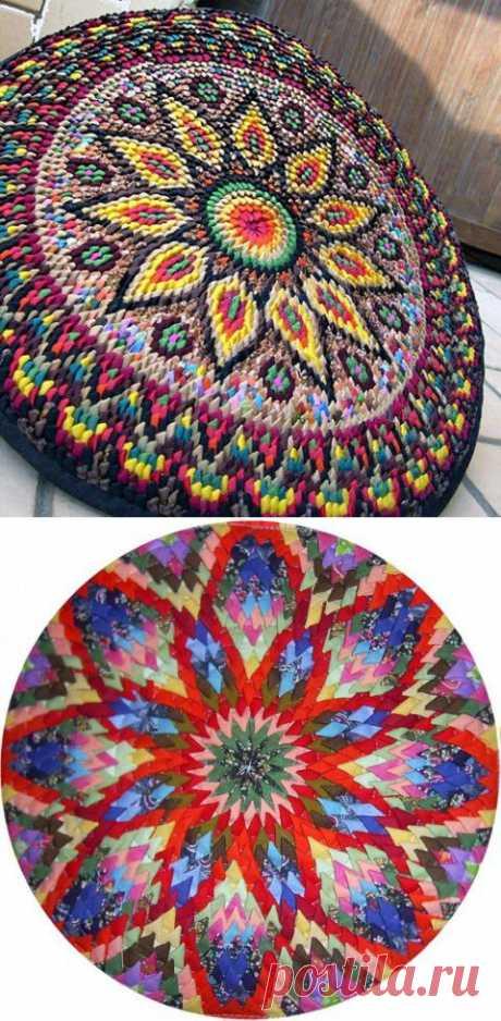 Красивые круглые коврики из уголков   ЖЕНСКИЙ МИР