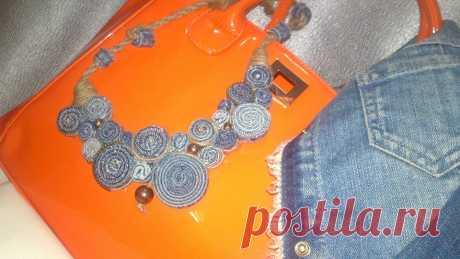 ожерелье-джинсовый бриз
