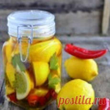 Маринованные лимоны с чили Кулинарный рецепт