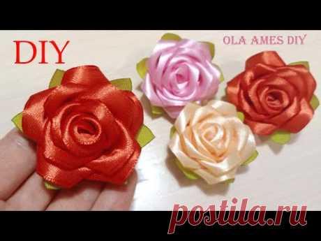 🌹 Делая их Забываешь про Время 🌹 ПРОСТЫЕ и КРАСИВЫЕ РОЗЫ из ЛЕНТ 🌹 DIY Ribbon Roses 🌹 Kanzashi 🌹