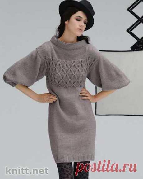Платье с плетеным лифом