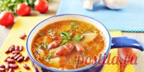 Постный суп с красной фасолью и грибами: сытный, густой и ароматный | Офигенная