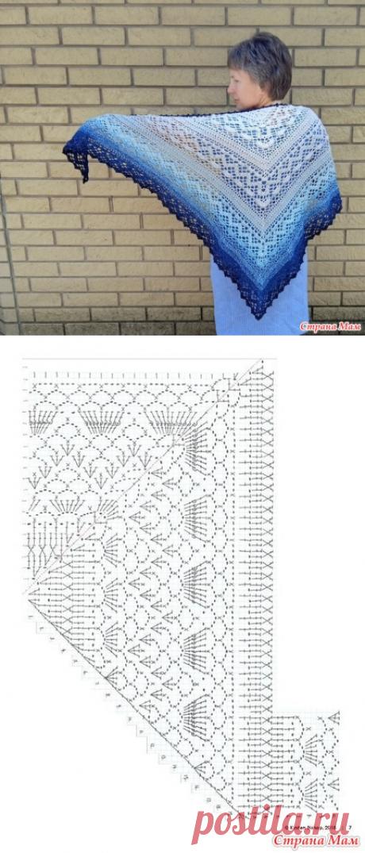 Шаль из Yarn Art Flowers Moonlight 3261 - Все в ажуре... (вязание крючком) - Страна Мам
