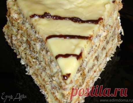 """Эстерхази"" торт - мой домашний вариант. Ингредиенты: грецкие орехи, сахар, мука"
