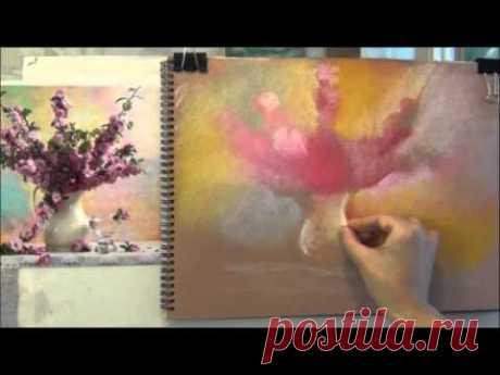 Натюрморт с цветами. Как рисовать натюрморт пастелью