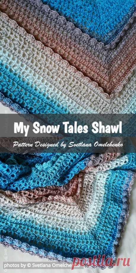 My Snow Tales Crochet Shawl Pattern