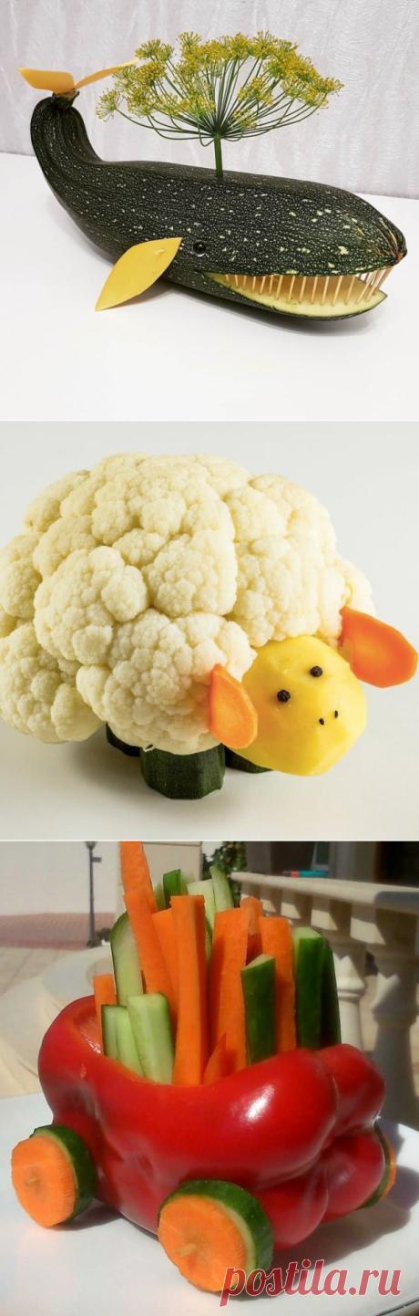 Поделки с детьми из овощей