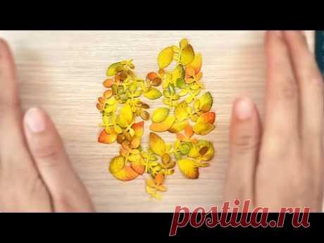 Осенние листья из фоамирана для открыток и поделок своими руками / Фоамиран DIY / Скрапбукинг - YouTube