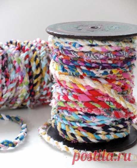 Подготовительный этап к плетению и вязанию ковриков из старой ткани. | NataliyaK | Яндекс Дзен